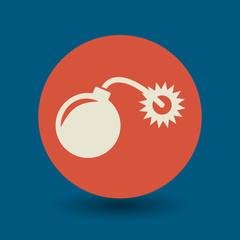 Bomb symbol, vector