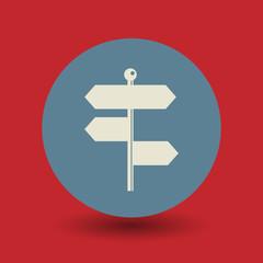 Signpost symbol, vector