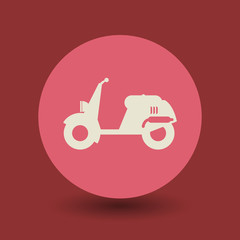 Scooter symbol, vector