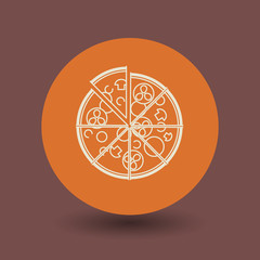 Pizza symbol, vector
