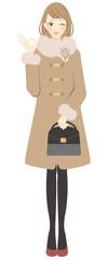 コートを着た女性 マル