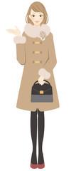 コートを着た女性 紹介