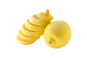 The lemon round slices folded up