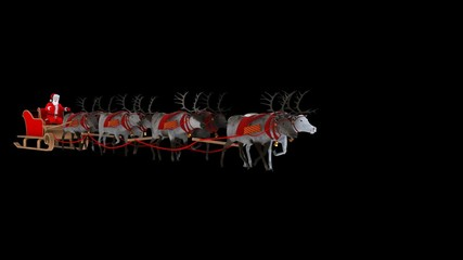 Santa Claus with reindeer (alpha channel)