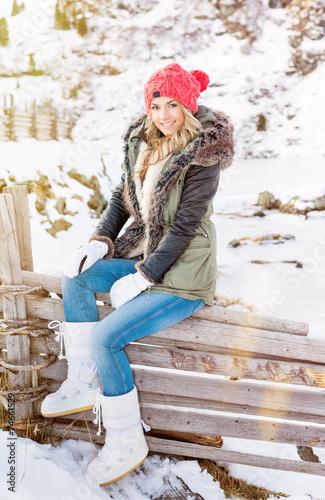 canvas print picture Winter (Ivana)