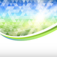 blue-green-mosaic-background-triangle-label-product