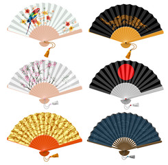 Foldind fan set