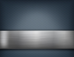 aluminum metal plate and background