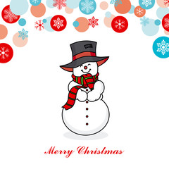 Christmas card. snowman