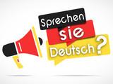 Fototapety megaphone : sprechen sie deutsch
