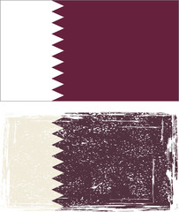 Qatar grunge flag. Vector illustration