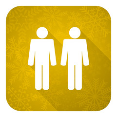 couple flat icon,people sign, team symbol