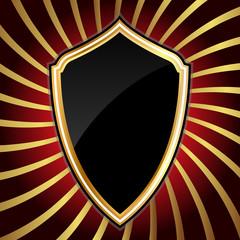 Golden shield.