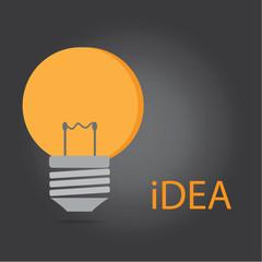 Vector of idea light bulb