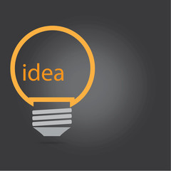 Vector of idea light bulb