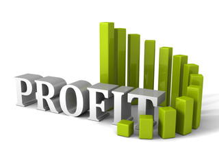 green circular progress bar Profit chart diagram. business succe