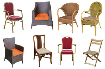 Collection of different chairs.