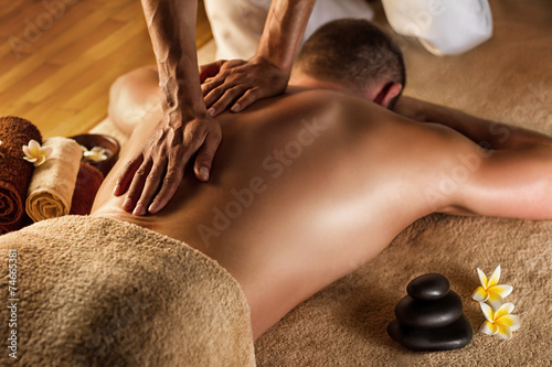 Deurstickers Gymnastiek Deep tissue massage