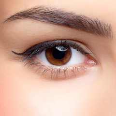 Woman eye make-up