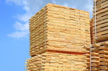 Eaves board in stacks