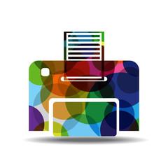 Printer Colorful Vector Icon Design