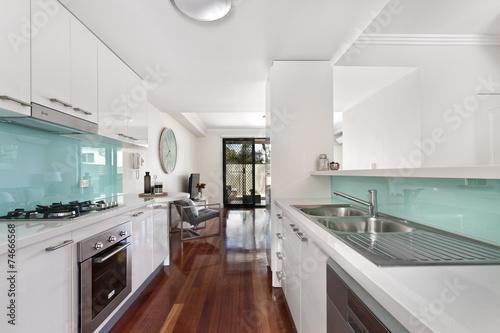 modern gourmet kitchen interior - 74666568