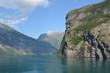 canvas print picture - Berge und Ozean