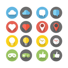 Different flat icons set. Design elements
