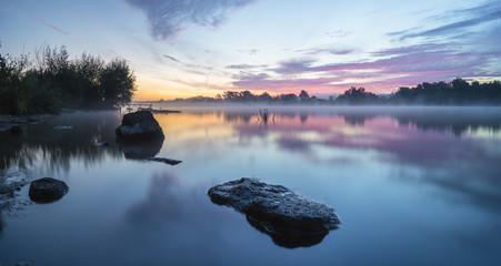 poranek nad rzeką