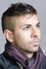 Young man face portrait