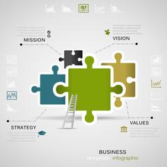 Puzzle business inforgraphic