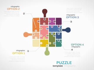 Puzzle piece inforgraphics