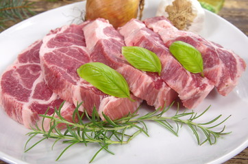 neck with rosemary and basil