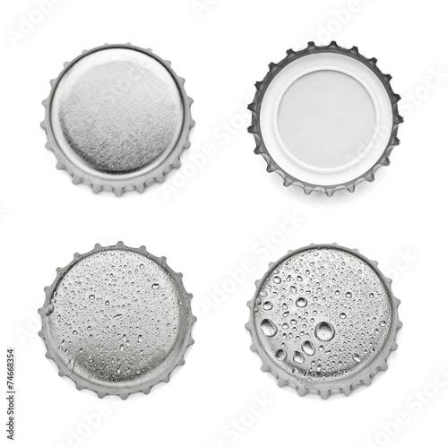 metal cap bottle drink - 74668354