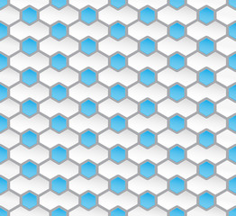 Seamless hexagon pattern background