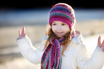 Little girl portrait at winter