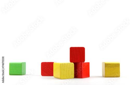 Wooden building blocks - 74670338
