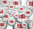 canvas print picture - Overtime Word Clocks Flying By Extra Added Late Work Job