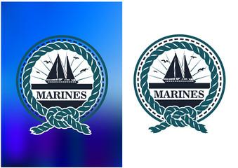 Yachting marine emblem