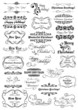 Merry Christmas and New Year holiday calligraphic lettering set