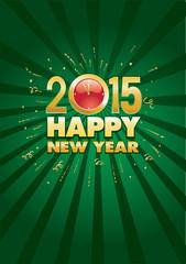 New Year's at midnight celebration