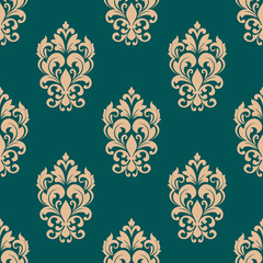 Foliage victorian seamless pattern design
