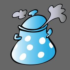 cartoon cooking pot, design element