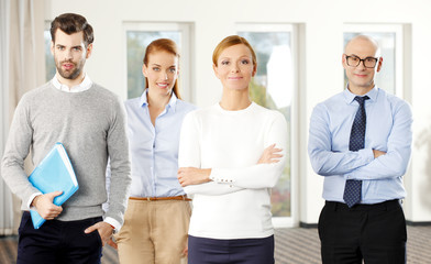 Successful sales team