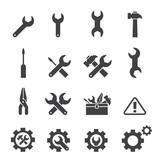 tool icon set poster