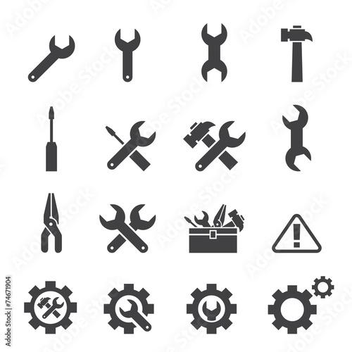 Zdjęcia na płótnie, fototapety, obrazy : tool icon set