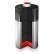 Leinwandbild Motiv Ikona rozładowanej baterii
