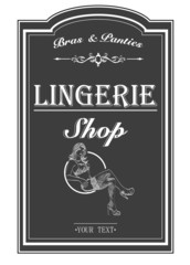 Vector retro poster lingerie shop