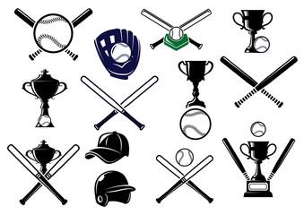 Baseball sports equipments set
