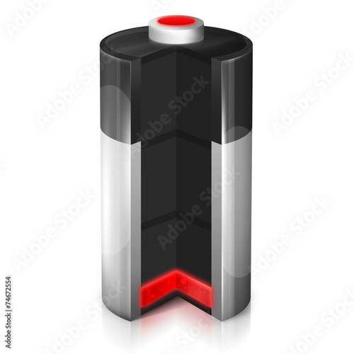 Ikona rozładowanej baterii - 74672554